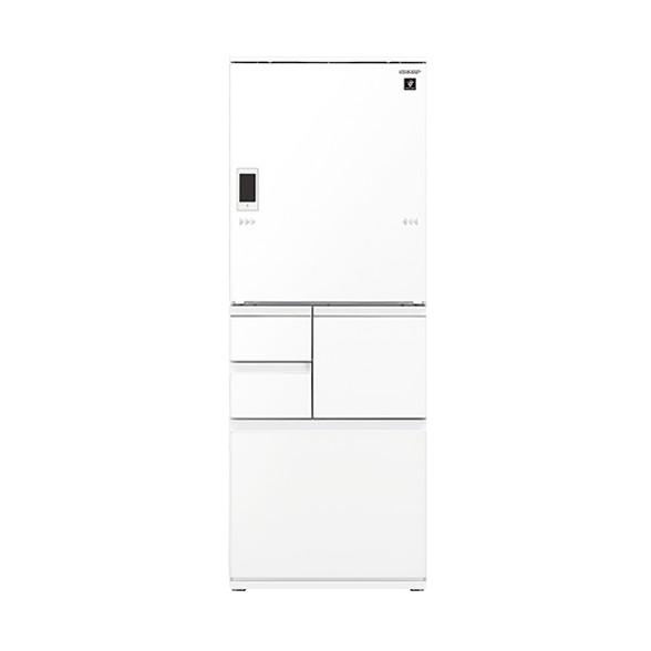 【送料無料】冷蔵庫 シャープ SHARP SJ-WA55E-W 白 ホワイト 550L ガラスドア 大型 右開き 左開き 両開き どっちもドア プラズマクラスター 節電
