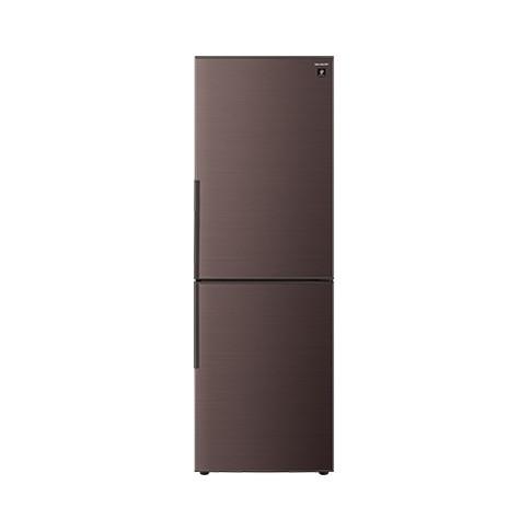 【送料無料】冷蔵庫 シャープ SHARP SJ-PD31E-T ブラウン 310L プラズマクラスター 右開き 節電 メガフリーザー 脱臭 抗菌 同棲 カップル 2人暮らし 2ドア