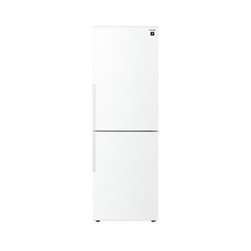 【送料無料】冷蔵庫 シャープ SHARP SJ-PD31E-W 白 ホワイト 310L プラズマクラスター 右開き 節電 メガフリーザー 脱臭 抗菌 同棲 カップル 2人