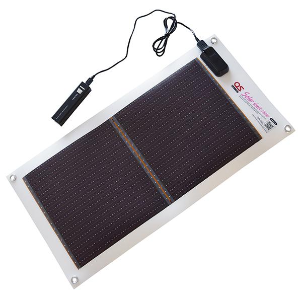モバイルバッテリー ソーラー シート ポータブル ソーラーシート+モバイルバッテリーセット OS GN-050B2 5.4W 太陽光発電 充電 バッテリー アウトドア レジャー 災害 防災 キャンプ フェス