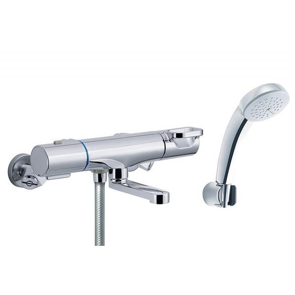 【送料無料】LIXIL RBF-813N INAX [サーモスタット付シャワーバス水栓 (寒冷地用) エコフルシャワー 洗い場専用 (メッキ仕様)]