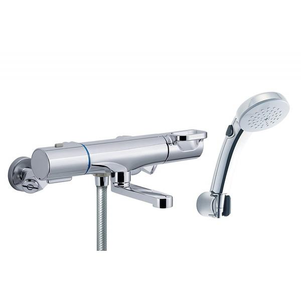 【送料無料】LIXIL RBF-813NW INAX [サーモスタット付シャワーバス水栓 (寒冷地用) エコフルスイッチシャワー 洗い場専用 (メッキ仕様)]