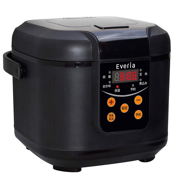 【送料無料】kaihou KH-SK300 ブラック Everia [マイコン炊飯器(3合炊き)]
