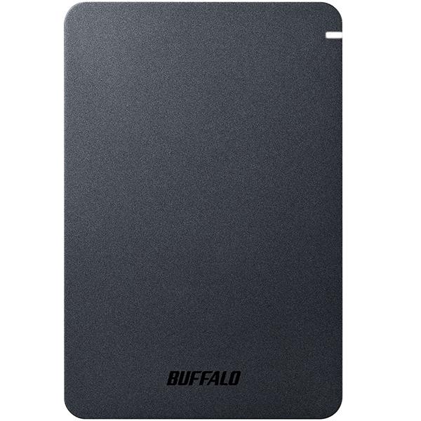 【送料無料】BUFFALO HD-PGF1.0U3-BKA ブラック [外付けポータブルHDD(1TB・USB3.1 Gen1(USB3.0))]