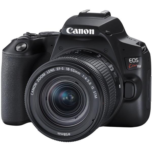 【送料無料】CANON EOS Kiss X10 EF S18-55 IS STM ブラック [デジタル一眼レフカメラ (2410万画素)]