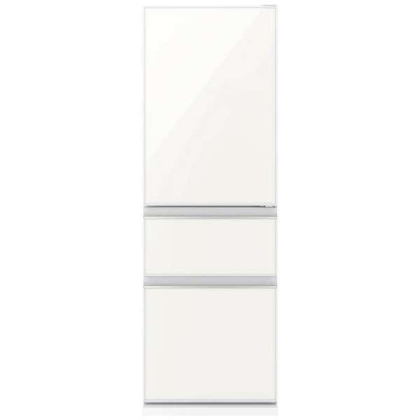 【送料無料】MITSUBISHI MR-CG37EL-W ナチュラルホワイト [冷蔵庫(365L・左開き)]【代引き・後払い決済不可】