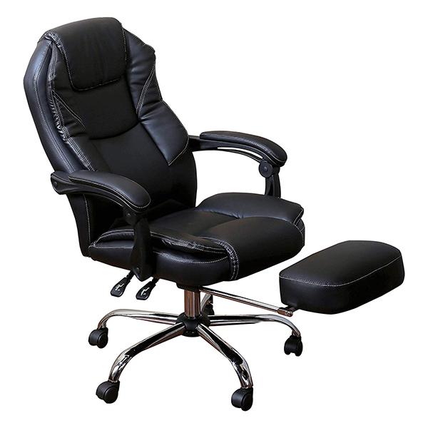 (a12234) [ メーカー直送 イス ビジネス ] インテリア 家具 ファミリー・ライフ スライドフットレスト付きオフィスチェア 椅子