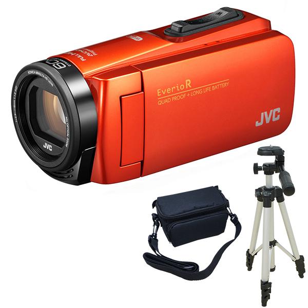 JVC GZ-RX680-D ブラッドオレンジ Everio R + KA-1100 三脚&バッグセット [フルハイビジョンデジタルビデオカメラ (メモリータイプ64GB・SDカード)]
