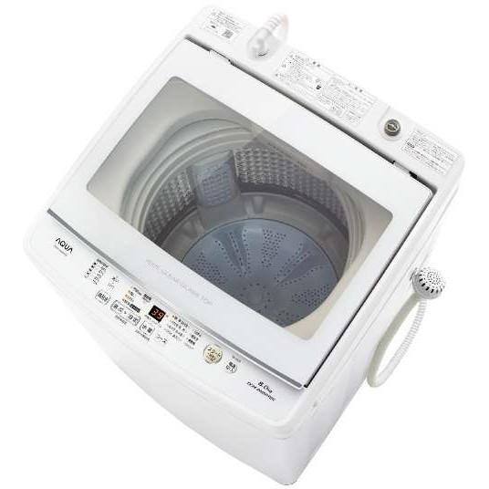 【送料無料】AQUA AQW-GV80H ホワイト [全自動洗濯機 (8.0kg)]