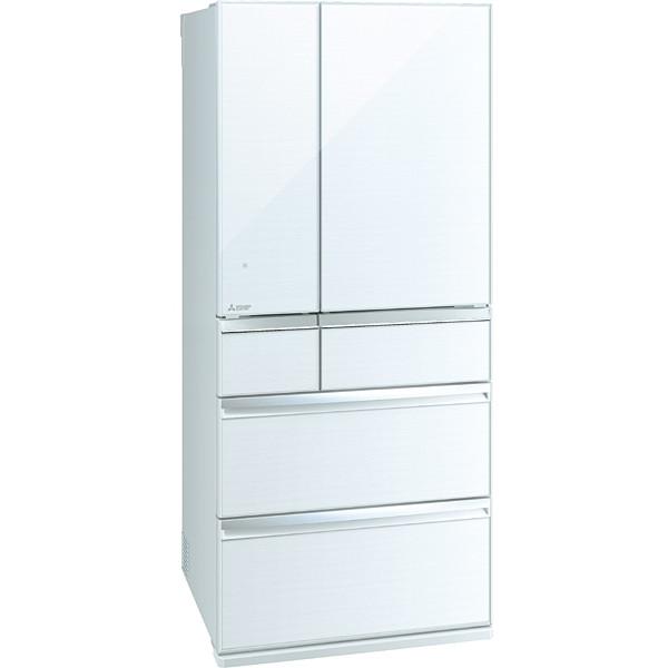 MITSUBISHI MR-WX70E-W クリスタルホワイト 置けるスマート大容量 WXシリーズ [6ドア冷蔵庫 (700L・フレンチドア)]