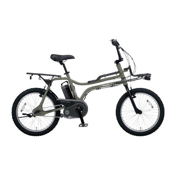 PANASONIC BE-ELZ033G マットオリーブ EZシリーズ [電動アシスト自転車(20インチ・内装3段)]【同梱配送不可】【代引き・後払い決済不可】【本州以外配送不可】
