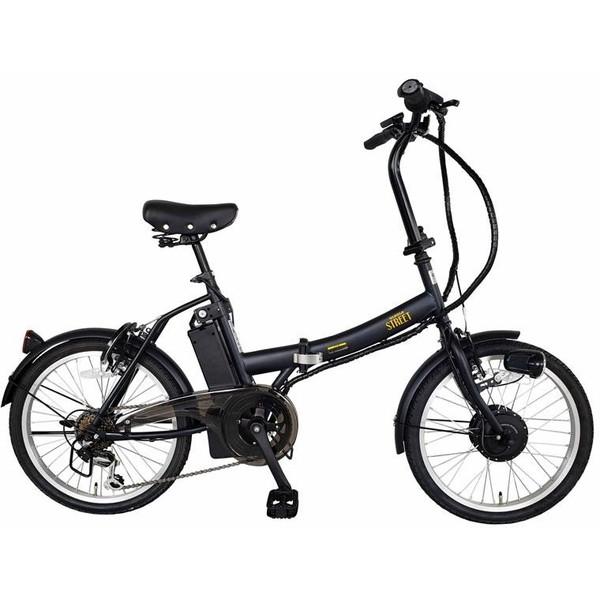 kaihou BM-AZ300BK マットブラック SUISUI Street [電動アシスト折りたたみ自転車(20インチ・外装6段)]【同梱配送不可】【代引き・後払い決済不可】【沖縄・北海道・離島配送不可】