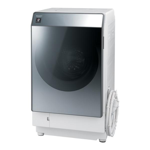 洗濯機 洗濯11.0kg 乾燥6.0kg ななめ型ドラム式洗濯乾燥機 左開き SHARP シルバー系 ES-W112-SL 設置費込 【代引き・後払い決済不可】