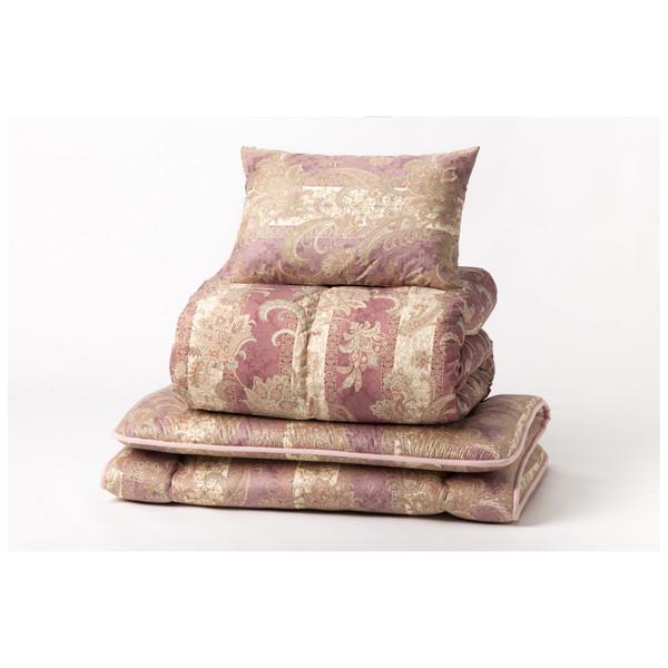 四国繊維販売 羽毛ふとん3点セット 23922 ローズ ホワイトダックダウン85% メーカー直送