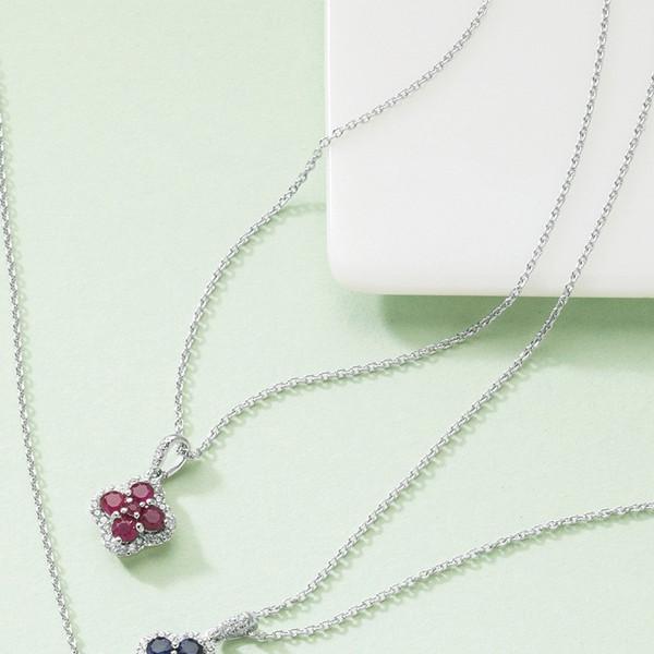 三大宝石ジュエリーペンダント(ルビー) 14011