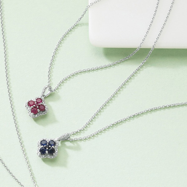 三大宝石ジュエリーペンダント(サファイア) 14012