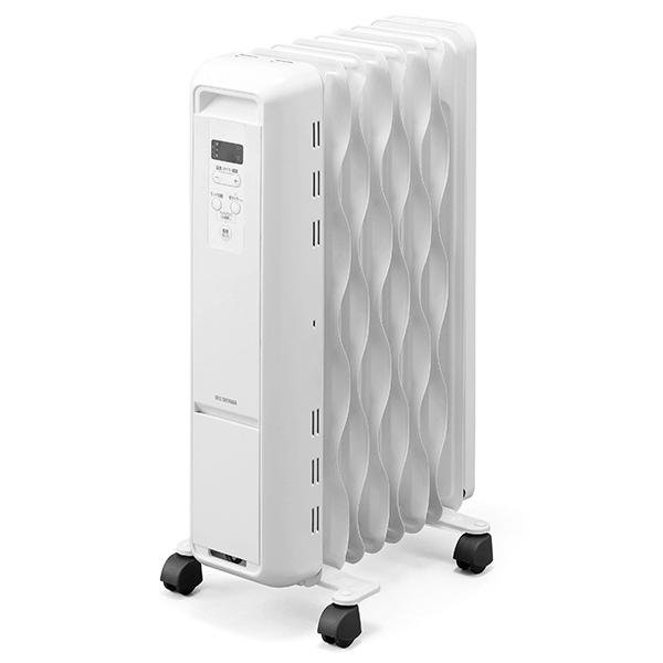 アイリスオーヤマ IWH2-1208M-W ホワイト [マイコン式ウェーブ型オイルヒーター(木造6畳/コンクリ8畳まで)]