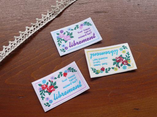 ハンドメイド パーツ タグ ハンドメイド用 刺繍 Seasonal Wrap入荷 副資材 手芸材料 入園 手芸用 です Pres-deオリジナル 手作り 3枚セット■ハンドメイド作品のワンポイントのラベルとしてお使いいただける 出群 クラシック花柄タグ ハンドメイドタグ