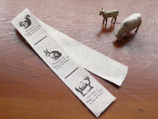 ハンドメイド パーツ タグ ハンドメイド用 リネン 副資材 手芸材料 入園 Pres-deオリジナル ハンドメイドタグ 人気急上昇 うさぎ お中元 のリアルなタッチのイラストがプリントされています 手作り 動物 リネンタグテープ りす 羊 6タグ分セット■リネン100%の味のあるテープ地に