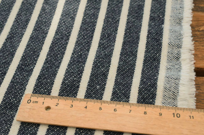 -Cotton & wool back hair stripe denim stretch fabric? s Dark Navy: ♦ to casual must-haves!