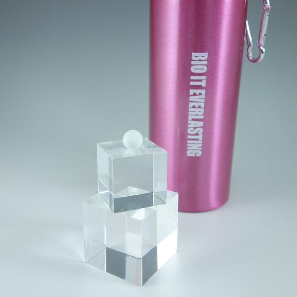 BIO IT Everlasting 飲料水用セラミックボール大きめサイズ500mlの軽量アルミボトル(ピンク)込み【 グッドエイジング アンチエイジング 免疫 】【02P01Oct16】