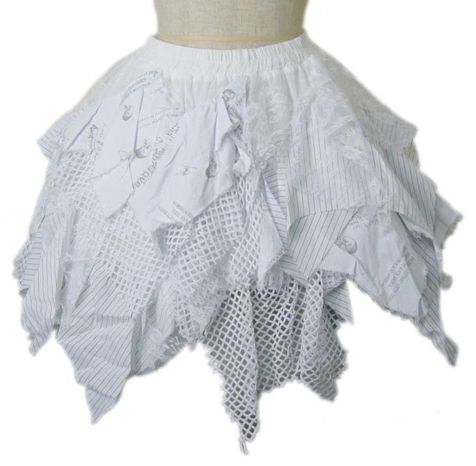 【ハロウィン】【パンク】【ゴスロリ】+G.L.P6802白ギザギザスカート