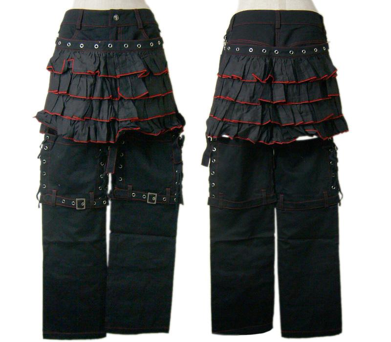 【ハロウィン】【ロリィタ】【ゴスロリ】+G.L.P7388フリルフラップ付パンツ