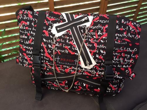 【ハロウィン】【ゴスロリ】【パンク】+KSクロスモチーフショルダーバッグ
