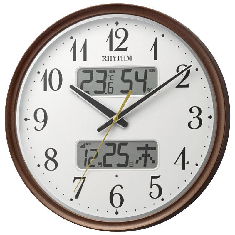 2020-2021年 贈りもの お返しものギフト RHYTHM 暗所自動点灯電波掛時計 返品不可 キャンセル 8FYA04SR06 変更 直営店 信用