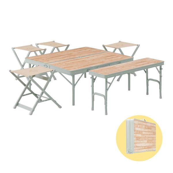 ロゴス Lifeベンチテーブルセット6 (73183014) [キャンセル・変更・返品不可]