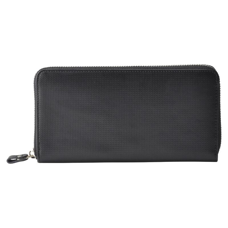 アッシュエル ラウンドファスナー長財布 ブラック (S-HLE14354BK) [キャンセル・変更・返品不可]