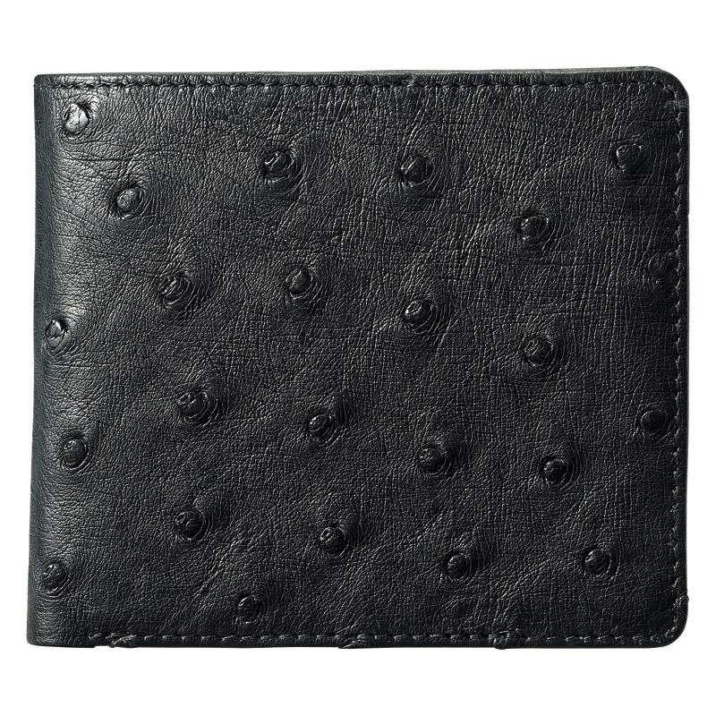 紳士用オーストリッチ財布 ブラック (S-NO8250040BK) [キャンセル・変更・返品不可]