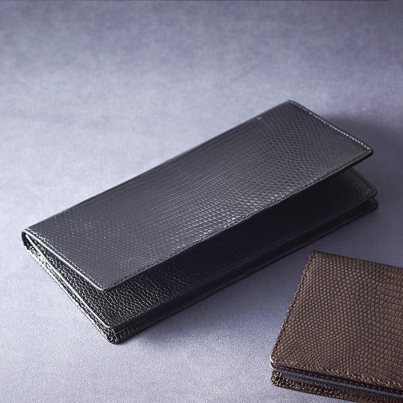 リザード長財布 ブラック (S-NOM15397BK) [キャンセル・変更・返品不可]