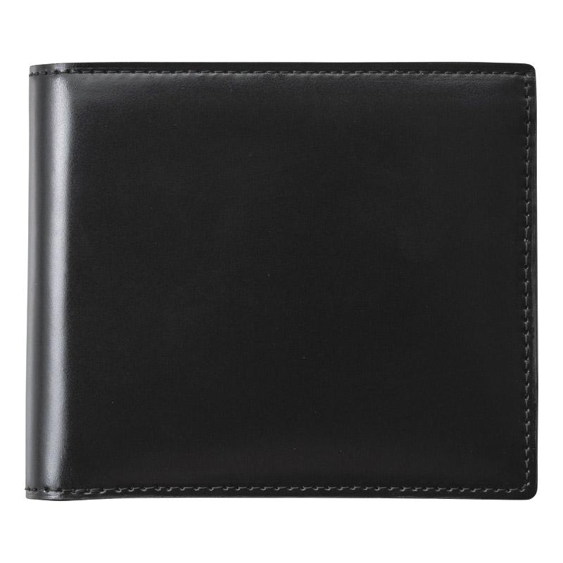 コードバン二つ折財布(ブラック) (S-NOM153102BK) [キャンセル・変更・返品不可]