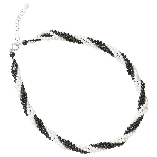 ユキコハナイ ねじり淡水ネックレス (A-YHMP151203) [キャンセル・変更・返品不可]