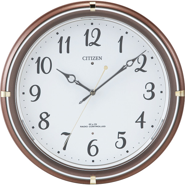 メーカー在庫限り品 2021年 贈りもの お返しものギフト シチズン 夜間自動点灯ライト付電波掛時計 キャンセル 返品不可 信用 変更 4MYA37AZ06