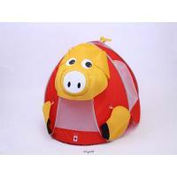 MH-TENTR-PIG メリープレイテント(Merry Tent) レッド&ブタくん ゴールドのブタくん [ラッピング不可][代引不可][同梱不可]