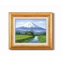 田所 洋油絵額F6金 「富士・忍野」 1103540