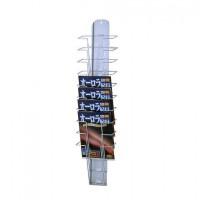 ナカキン パンフレットスタンド 壁掛けタイプ PS-110F [ラッピング不可][代引不可][同梱不可]
