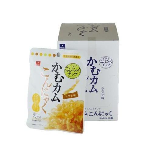 アスザックフーズ 噛むカムこんにゃく ホタテ味 60袋(10袋×6箱) [ラッピング不可][代引不可][同梱不可]