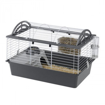 ferplast(ファープラスト) ウサギ用ケージセット キャシタ 80 57065070 グレー [ラッピング不可][代引不可][同梱不可]