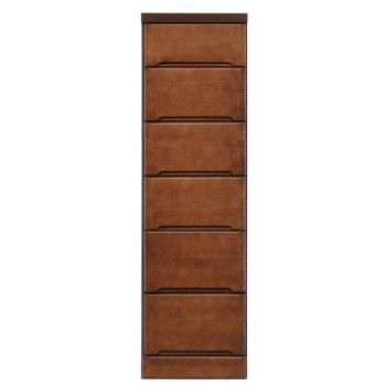 クライン サイズが豊富なすきま収納チェスト ブラウン色 6段 幅35cm [ラッピング不可][代引不可][同梱不可]