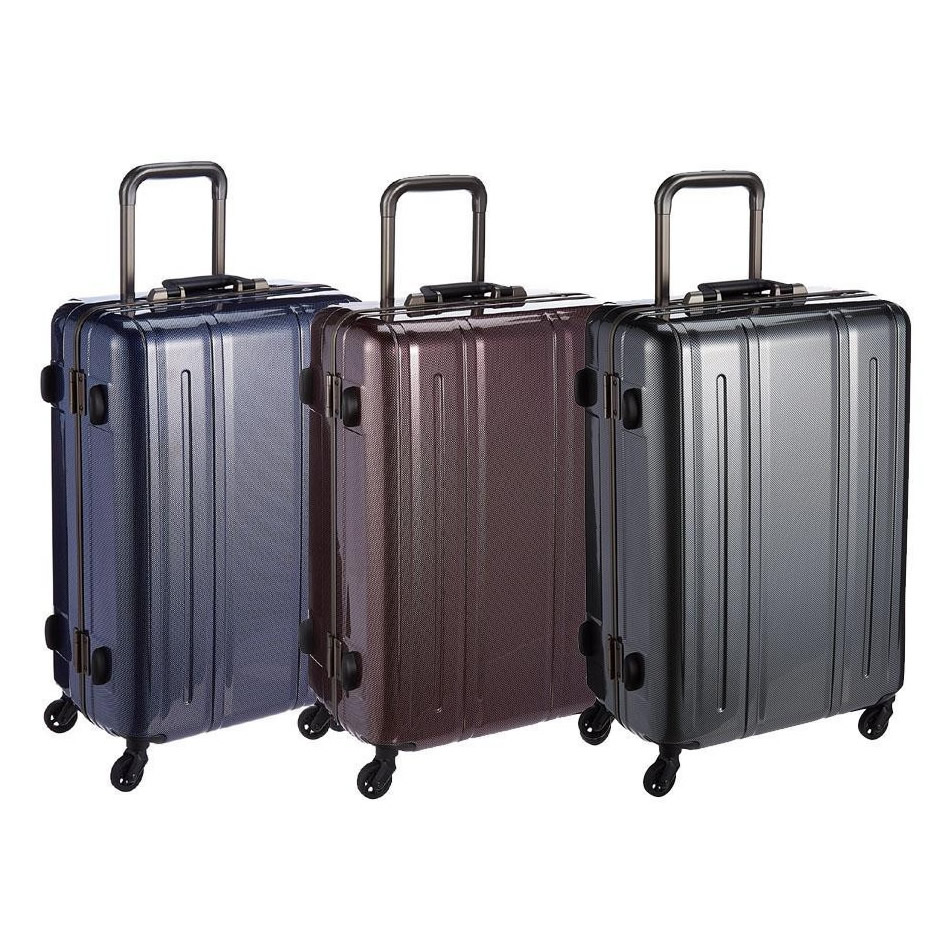EVERWIN(エバウィン) 157センチ以内 超軽量設計 スーツケース Be Narrow 60cm 56L 31238 ネイビーカーボン [ラッピング不可][代引不可][同梱不可]