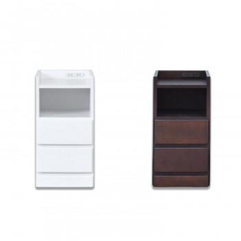 ナイトテーブル エッセ W30 WH・ホワイト [ラッピング不可][代引不可][同梱不可]
