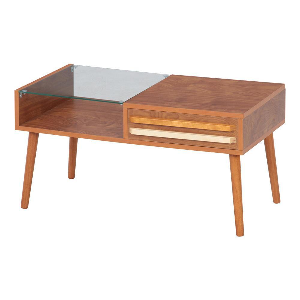 リビングテーブル オスロ ミディアムブラウン 10034 [ラッピング不可][代引不可][同梱不可]
