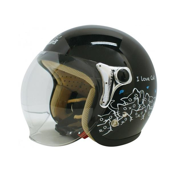 ダムトラックス(DAMMTRAX) カリーナ ヘルメット BLACK/CAT