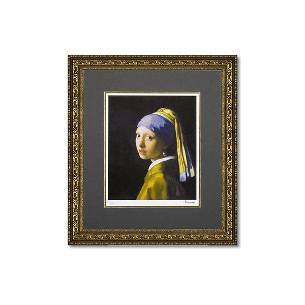 ユーパワー ミュージアムシリーズ(ジクレー版画) アートフレーム フェルメール 「青いターバンの少女」 MW-18036