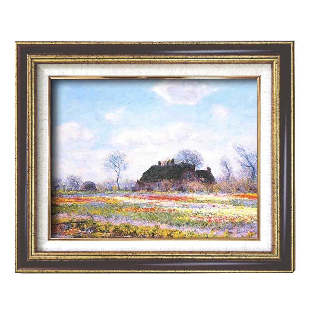 (額装品)世界の名画9573 F6 モネ「花畑」 117195