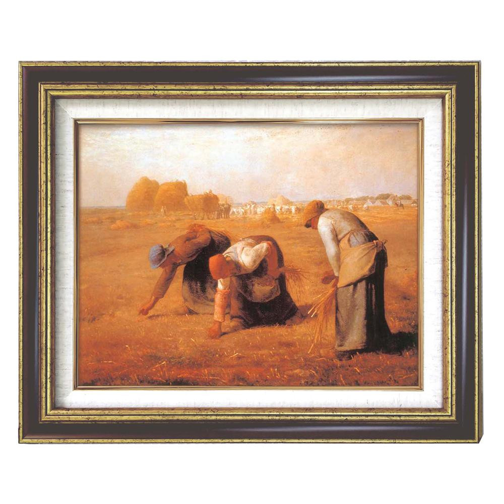 117201 ミレー「落穂拾い」 (額装品)世界の名画9573 F6