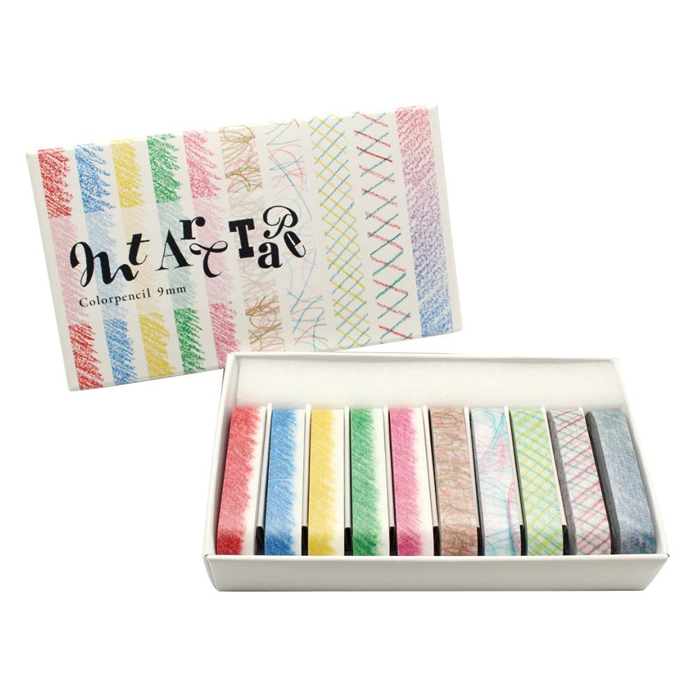 メール便発送も可能 最大2個まで mt art 色鉛筆9mm幅セット 人気の定番 通販 MTART06 tape